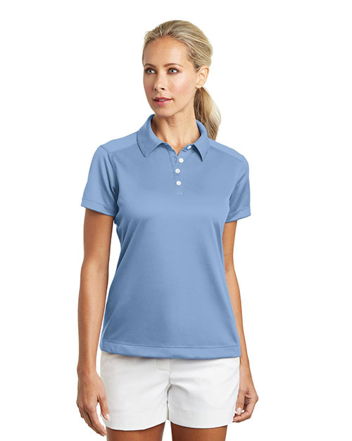 ladies' nike dri-fit pebble texture polos
