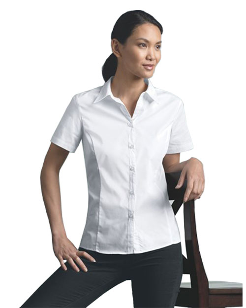 clique ladies' s/s caitlin stain resistant twill
