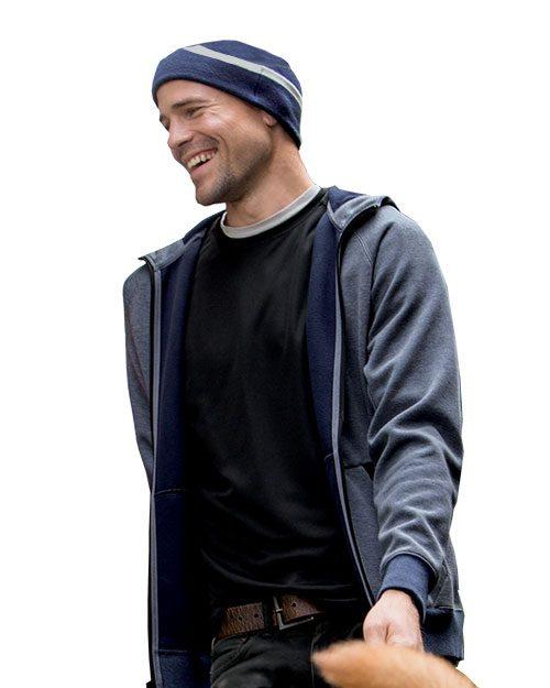 clique men's lund fleece zip hoodie